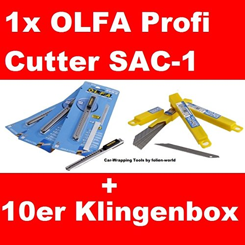 car wrapping folienmesser olfa cutter sac 1 30 10er klingenbox 30 klingenneu auto. Black Bedroom Furniture Sets. Home Design Ideas