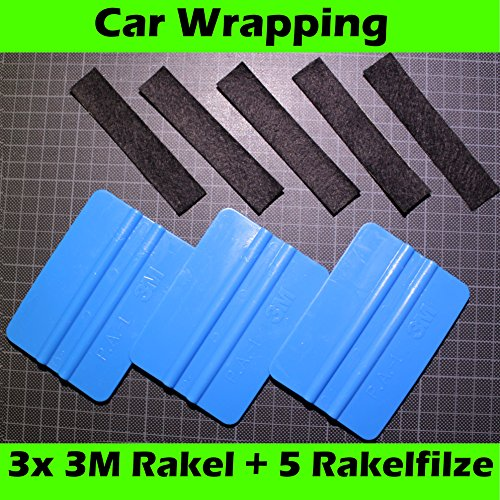 3 x 3m rakel blau 5 ersatzfilze filzkante rakelfilz car wrapping folierung 3 m auto. Black Bedroom Furniture Sets. Home Design Ideas